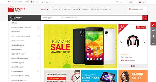 ShoppyStore Joomla Theme