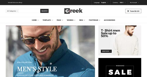 Vina Greek Joomla Template