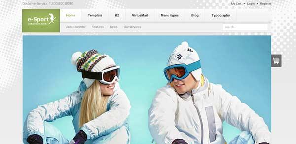eSport - VirtueMart Joomla Themes