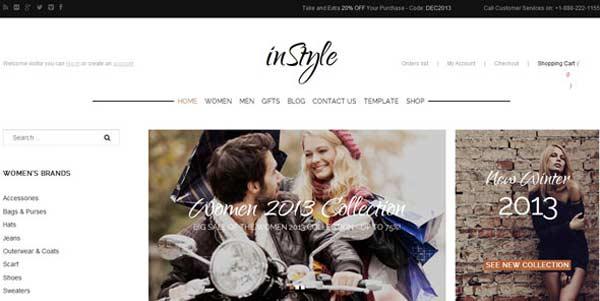 inStyle - VirtueMart Joomla Themes