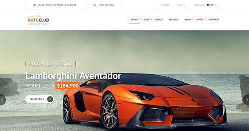 Auto Club Joomla Theme