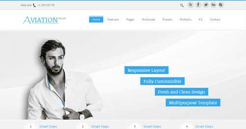 Aviation - Responsive Business Joomla Templates