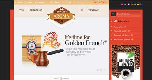 BT Aroma - Restaurant Joomla Templates