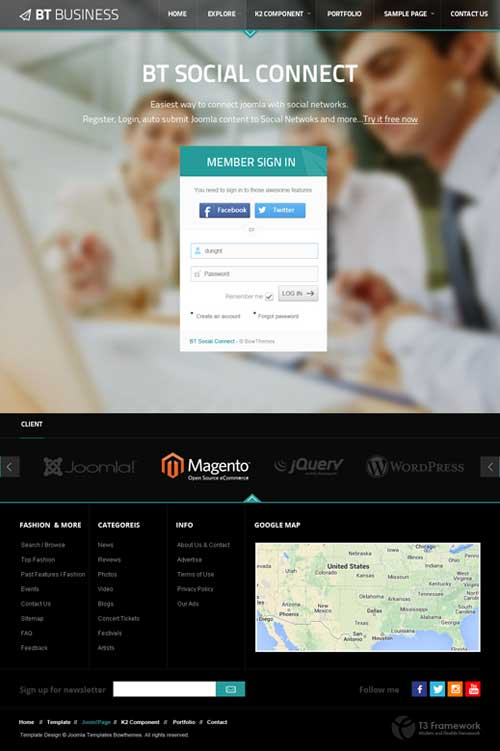 BT Business Joomla Theme