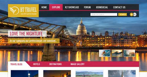 BT Travel - Hotel & Travel Joomla Templates