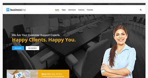 Business Line Joomla Theme