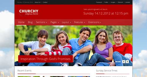 Churchy - Church Joomla Templates