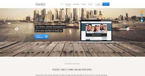 CleanOut - Responsive Business Joomla Templates