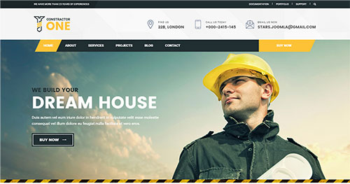 Constractor One Joomla Theme