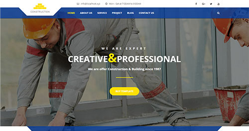 Construction-Building joomla theme