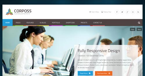 Corposs Joomla Template
