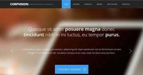 Corpvision - Responsive Business Joomla Templates