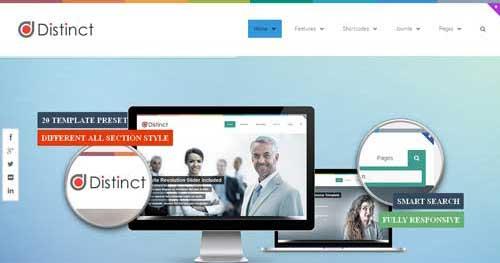 Distinct - Responsive Business Joomla Templates