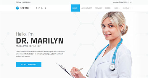 doctor Joomla Theme