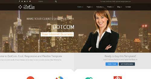 DotCom - Responsive Business Joomla Templates