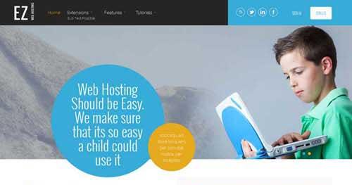 EZ Web Hosting - Web Hosting Joomla Templates