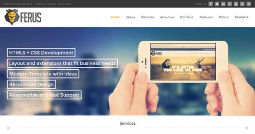 Ferus - Responsive Business Joomla Templates
