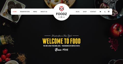 Foodz Joomla Theme