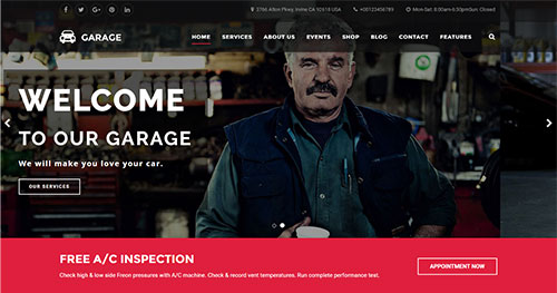 Garage Joomla Template