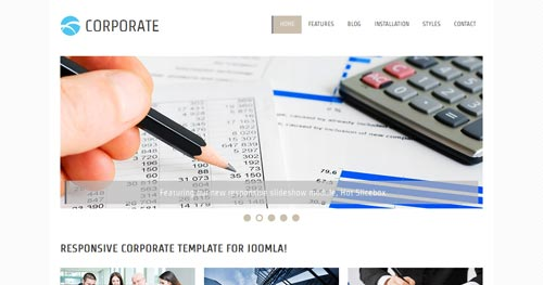 HOT Corporate - Business Joomla Templates
