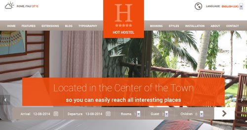 HOT Hostel Joomla Theme