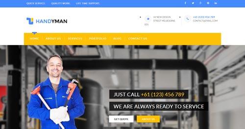 Handyman Joomla Theme