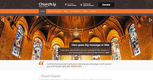 Hot Churchly - Church Joomla Templates