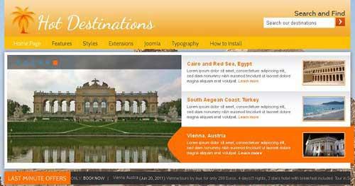 Hot Destinations - Hotel & Travel Joomla Templates