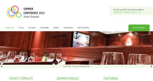 Hot Events - Event Joomla Templates