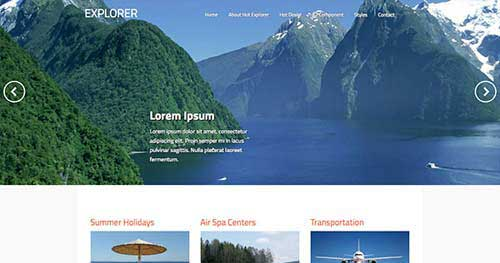 Hot Explorer - Hotel & Travel Joomla Templates