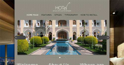 Hot HOTel - Hotel & Travel Joomla Templates