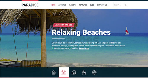 hot paradise joomla theme