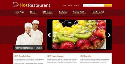 Hot Restaurant - Restaurant Joomla Templates