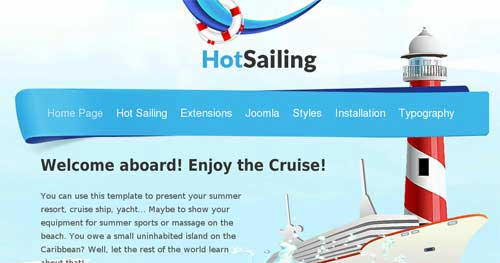 Hot Sailing - Hotel & Travel Joomla Templates