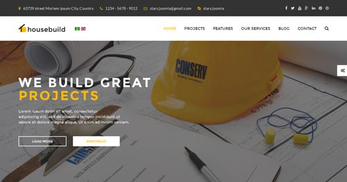 Housebuild Joomla Theme