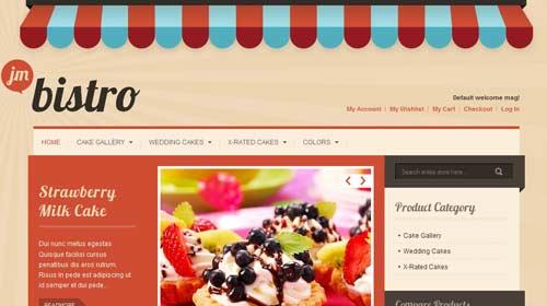 JA Bistro - Restaurant Joomla Templates