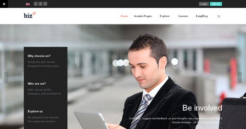 JA Biz - Business Joomla Templates
