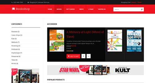 JA Bookshop - Ecommerce Joomla Templates