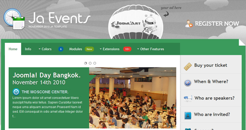 JA Events - Event Joomla Templates