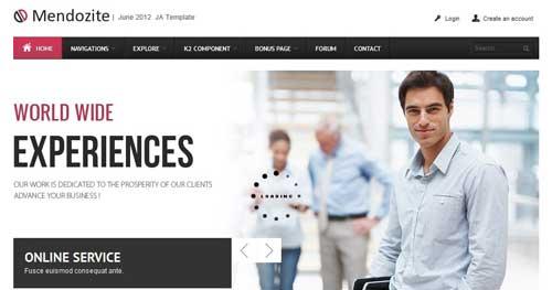 JA Mendozite - Responsive Business Joomla Templates