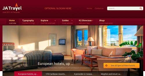 JA Travel - Hotel & Travel Joomla Templates