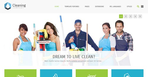 JM Cleaning Company Joomla Theme