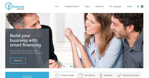 JM Financial Services Joomla Theme