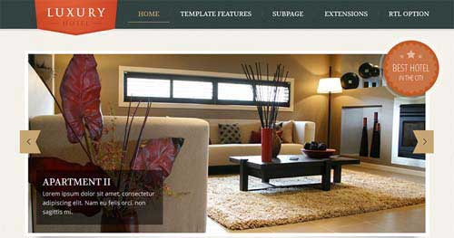 25 best hotel travel joomla templates 2016 jooexplorer for Website that allows you to design a room