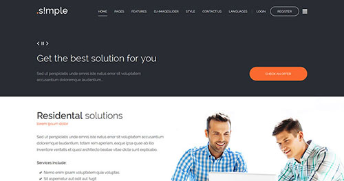 JM Simple Joomla Template