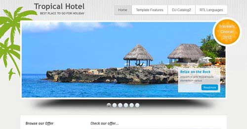 JM-Tropical-Hotel - Hotel & Travel Joomla Templates