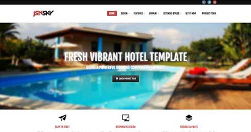 JSN Sky - Hotel & Travel Joomla Templates