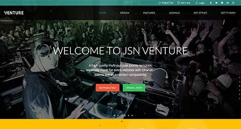 JSN Venture - Event Joomla Templates
