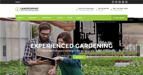 landscaping Joomla Theme