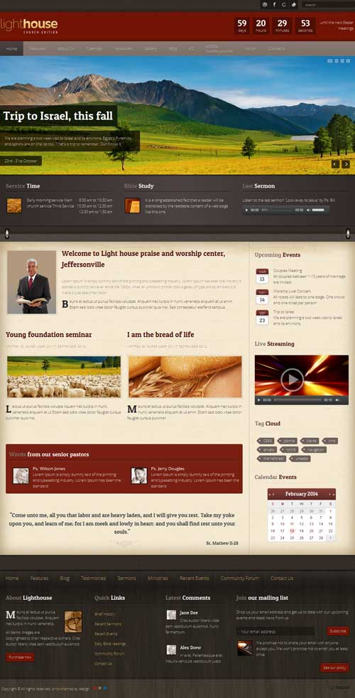 Lighthouse Joomla Theme